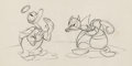 animation art:Model Sheet, Donald's Better Self Devil and Angel Hand-Drawn Model Sheet(Walt Disney, 1938)....
