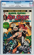 Bronze Age (1970-1979):Adventure, Marvel Feature #1 Red Sonja (Marvel, 1975) CGC NM+ 9.6 White pages....