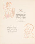 Books:Fine Press & Book Arts, [Pablo Picasso, illustrator]. Aristophanes. SIGNED/ LIMITED.Lysistrata. New York: The Limited Editions Club, 19...
