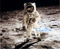 "Autographs:Celebrities, Buzz Aldrin Signed Large Apollo 11 Lunar Surface ""Visor"" ColorPhoto, with COA...."
