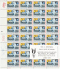 "Autographs:Celebrities, Neil Armstrong Signed Sheet of ""First Man on the Moon"" Stamps. ..."