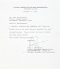 Explorers:Space Exploration, Neil Armstrong Typed Letter Signed on NASA Letterhead, withTransmittal Envelope....