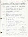 Explorers:Space Exploration, Apollo 11 Grumman Lunar Module Handwritten Construction and TestingLog Book....