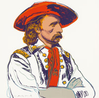 Andy Warhol (American, 1928-1987) General Custer (from Cowboys and Indians), 1986 Screenp