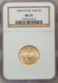 Modern Issues, 1995-W $5 Civil War Gold Five Dollar MS70 NGC. NGC Census: (546). PCGS Population (168). Numismedia Wsl. Price for problem...