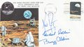 """Explorers:Space Exploration, Apollo 11 Crew-Signed """"Type One"""" Insurance Cover Originally fromthe Personal Collection of Mission Command Module Pilot Micha..."""