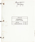 Explorers:Space Exploration, Apollo 10 Flown Alternate Flight Plans Book Originally fromthe Personal Collection of Mission Command Module Pilo...