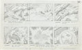 "Original Comic Art:Miscellaneous, Jack Kirby Fantastic Four ""Blastaar the Living Bomb Burst"" Storyboard #61 Original Animation Art (DePatie-Freleng,..."