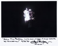 Autographs:Celebrities, Gene Kranz Signed Apollo 13 Damaged Service Module Photo withQuote. ...