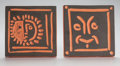 Prints, Pablo Picasso (Spanish, 1881-1973). Petit visage solaire and Masque rieur (two works), 1968. Terracotta tiles. 6-5/8... (Total: 2 Items)