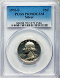 Proof Washington Quarters, 1976-S 25C Silver PR70 Deep Cameo PCGS. PCGS Population (209). NGC Census: (0). Numismedia Wsl. Price for problem free NGC...