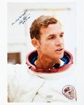 Autographs:Celebrities, Dave Scott Signed Large Color Photo in Apollo 15 Spacesuit. ...