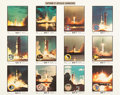 "Explorers:Space Exploration, NASA Large Color Photo ""Saturn V Apollo Launches""...."