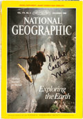Explorers:Space Exploration, Buzz Aldrin's Personal Annotated Copy of a NationalGeographic Magazine Containing a Michael Collins' Article onM...