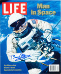Explorers:Space Exploration, Buzz Aldrin Signed Book: LIFE Man in Space Originally fromHis Personal Collection....