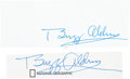 Autographs:Celebrities, Buzz Aldrin Signatures (Two) Excised from Signed Books. ... (Total:2 Items)