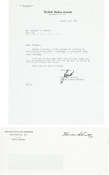 Autographs:Celebrities, Harrison Schmitt Typed Letter Signed with Transmittal Envelope. ...(Total: 2 Items)