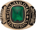 Basketball Collectibles:Others, 1969 Oakland Oaks ABA Championship Ring Presented to Small Forward John Clawson....