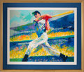 "Baseball Collectibles:Others, 1998 Joe DiMaggio & Leroy Neiman ""Yankee Clipper"" SignedSerigraph 33/458. ..."