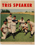 Baseball Collectibles:Photos, 1950's Tris Speaker Signed Magazine Photograph. ...