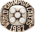 Basketball Collectibles:Others, 1987 Los Angeles Lakers NBA Championship Salesman's Sample Ring....