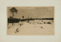 Books:Prints & Leaves, Ferdinand Steiniger, artist. SIGNED Etching Proof Entitled,Winter auf der Heide. [n.d., circa 1912]. ...