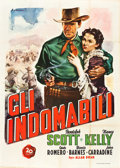 "Movie Posters:Western, Frontier Marshal (20th Century Fox, 1948). First Post-War Release Italian 4 - Foglio (54.5"" X 78"").. ..."