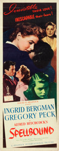 "Movie Posters:Hitchcock, Spellbound (United Artists, 1945). Insert (14"" X 36"").. ..."