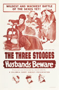 "Movie Posters:Comedy, The Three Stooges in Husbands Beware (Columbia, 1956). One Sheet(27"" X 41"").. ..."