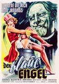 """Movie Posters:Drama, The Blue Angel (Superfilm, R-Early 1950s). German A1 (23.5"""" X 33"""").. ..."""