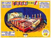 "This is Cinerama (Cinerama Europe 1, 1961). French Four Panel (94"" X 124.5"")"