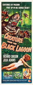"Movie Posters:Horror, Creature from the Black Lagoon (Universal International, 1954).Insert (14"" X 36"").. ..."