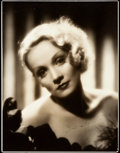 "Movie Posters:Miscellaneous, Marlene Dietrich (c.1930s). Autographed Portrait Photo (10.5"" X13.75"").. ..."