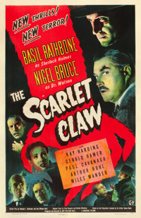 "The Scarlet Claw (Universal, 1944). One Sheet (27"" X 41"")"