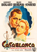 "Movie Posters:Academy Award Winners, Casablanca (Warner Brothers, 1948). Post-War Release Italian2-Foglio (39"" X 55"").. ..."