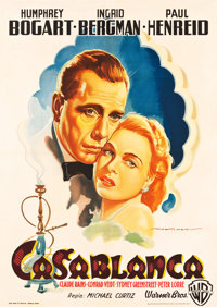 "Casablanca (Warner Brothers, 1948). Post-War Release Italian 2-Foglio (39"" X 55"")"