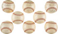 Baseball Collectibles:Balls, 1953 American League Team Signed Baseball Collection of All Eight Teams with World Series Champion Yankees. ...