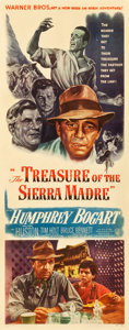 "Movie Posters:Film Noir, The Treasure of the Sierra Madre (Warner Brothers, 1948). Insert(14"" X 36"").. ..."