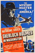 "Movie Posters:Mystery, Sherlock Holmes in Washington (Universal, 1943). Poster (40"" X60"").. ..."