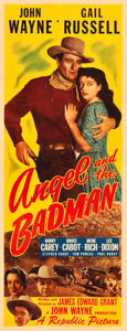 "Movie Posters:Western, Angel and the Badman (Republic, 1947). Insert (14"" X 36"").. ..."