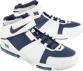 Basketball Collectibles:Others, 2004 LeBron James Game Worn Shoes....