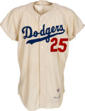 Baseball Collectibles:Uniforms, 1961 Frank Howard Game Worn Los Angeles Dodgers Jersey. ...