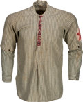 Baseball Collectibles:Uniforms, Circa 1910 Texaco Team Game Worn Baseball Jersey & Cap....