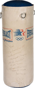 Boxing Collectibles:Memorabilia, 1987 Muhammad Ali Signed Heavy Bag....
