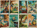 Miscellaneous:Trading Cards, [Trading Cards]. Group of Eight German Lithograph Cards Depicting the 1001 Arabian Nights. [N.p., n.d., circa 1880]. ...