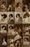 Miscellaneous:Postcards, [Postcards]. Group of Seventeen Postcards Depicting Young Women.London: E.A. Schwerdtfeger & Co., [n.d. circa 1910]. ...