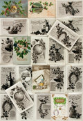 Miscellaneous:Postcards, [Postcards]. Group of Twenty-Three Christmas Themed Postcards.Various publishers, [n.d. circa 1900]. ...