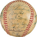 Baseball Collectibles:Balls, 1951 Brooklyn Dodgers Team Signed Baseball. ...