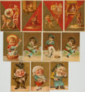 Miscellaneous:Trading Cards, [Trading Cards]. Group of Eleven Victorian Chromolithograph Cards.[N.p., n.d., circa 1880]....