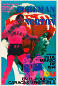 Boxing Collectibles:Memorabilia, 1974 George Foreman vs. Ken Norton On-Site Boxing Poster....